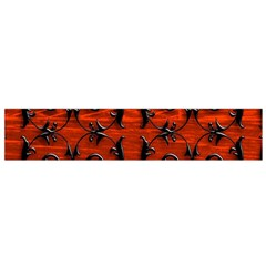 3d Metal Pattern On Wood Flano Scarf (small)