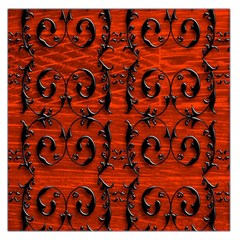 3d Metal Pattern On Wood Large Satin Scarf (Square)