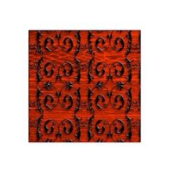 3d Metal Pattern On Wood Satin Bandana Scarf