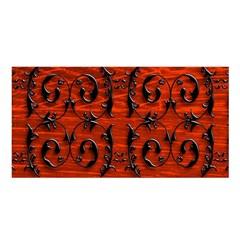 3d Metal Pattern On Wood Satin Shawl
