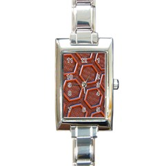 3d Abstract Patterns Hexagons Honeycomb Rectangle Italian Charm Watch
