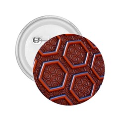 3d Abstract Patterns Hexagons Honeycomb 2 25  Buttons