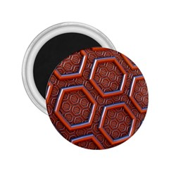 3d Abstract Patterns Hexagons Honeycomb 2 25  Magnets