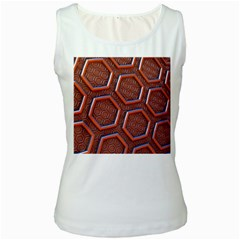 3d Abstract Patterns Hexagons Honeycomb Women s White Tank Top