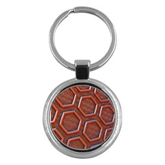 3d Abstract Patterns Hexagons Honeycomb Key Chains (round)