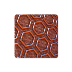 3d Abstract Patterns Hexagons Honeycomb Square Magnet