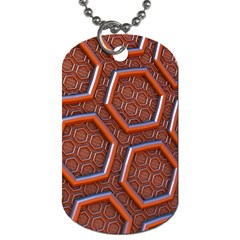 3d Abstract Patterns Hexagons Honeycomb Dog Tag (one Side)
