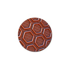 3d Abstract Patterns Hexagons Honeycomb Golf Ball Marker