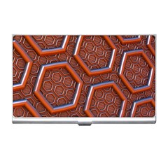 3d Abstract Patterns Hexagons Honeycomb Business Card Holders