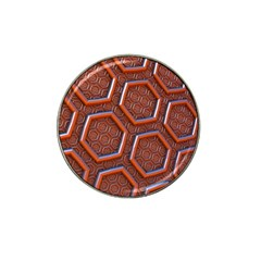 3d Abstract Patterns Hexagons Honeycomb Hat Clip Ball Marker