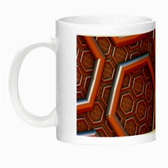 3d Abstract Patterns Hexagons Honeycomb Night Luminous Mugs