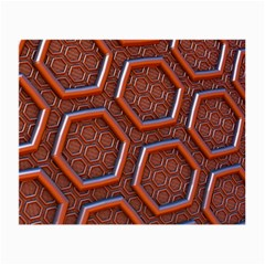 3d Abstract Patterns Hexagons Honeycomb Small Glasses Cloth