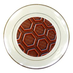 3d Abstract Patterns Hexagons Honeycomb Porcelain Plates