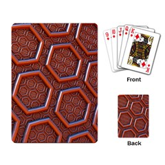 3d Abstract Patterns Hexagons Honeycomb Playing Card
