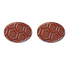 3d Abstract Patterns Hexagons Honeycomb Cufflinks (oval)
