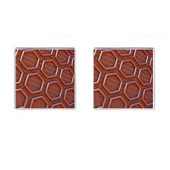 3d Abstract Patterns Hexagons Honeycomb Cufflinks (square)