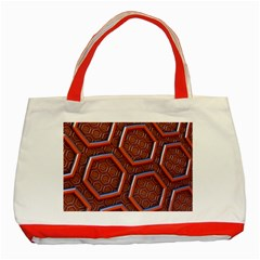 3d Abstract Patterns Hexagons Honeycomb Classic Tote Bag (red)