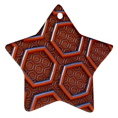 3d Abstract Patterns Hexagons Honeycomb Star Ornament (two Sides)