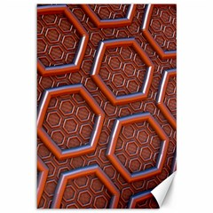 3d Abstract Patterns Hexagons Honeycomb Canvas 12  X 18
