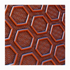 3d Abstract Patterns Hexagons Honeycomb Medium Glasses Cloth (2-Side)