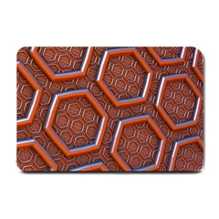 3d Abstract Patterns Hexagons Honeycomb Small Doormat