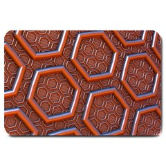 3d Abstract Patterns Hexagons Honeycomb Large Doormat