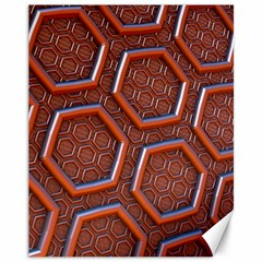 3d Abstract Patterns Hexagons Honeycomb Canvas 11  X 14