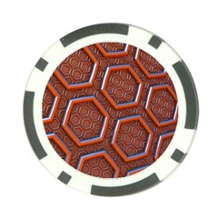 3d Abstract Patterns Hexagons Honeycomb Poker Chip Card Guard