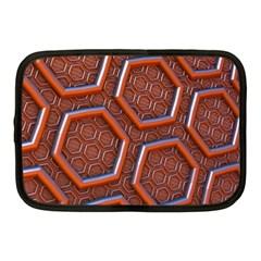 3d Abstract Patterns Hexagons Honeycomb Netbook Case (medium)
