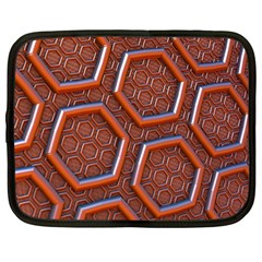 3d Abstract Patterns Hexagons Honeycomb Netbook Case (large)