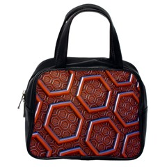 3d Abstract Patterns Hexagons Honeycomb Classic Handbags (One Side)