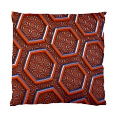 3d Abstract Patterns Hexagons Honeycomb Standard Cushion Case (two Sides)