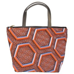 3d Abstract Patterns Hexagons Honeycomb Bucket Bags