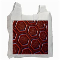 3d Abstract Patterns Hexagons Honeycomb Recycle Bag (one Side)