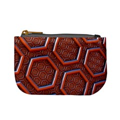 3d Abstract Patterns Hexagons Honeycomb Mini Coin Purses