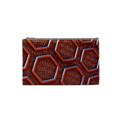 3d Abstract Patterns Hexagons Honeycomb Cosmetic Bag (small)