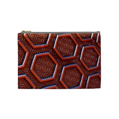 3d Abstract Patterns Hexagons Honeycomb Cosmetic Bag (medium)