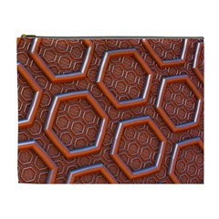 3d Abstract Patterns Hexagons Honeycomb Cosmetic Bag (XL)