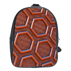 3d Abstract Patterns Hexagons Honeycomb School Bags(large)