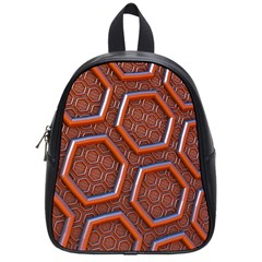 3d Abstract Patterns Hexagons Honeycomb School Bags (small)