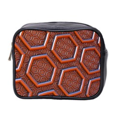 3d Abstract Patterns Hexagons Honeycomb Mini Toiletries Bag 2-Side