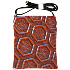 3d Abstract Patterns Hexagons Honeycomb Shoulder Sling Bags