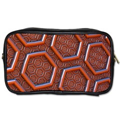 3d Abstract Patterns Hexagons Honeycomb Toiletries Bags