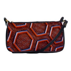 3d Abstract Patterns Hexagons Honeycomb Shoulder Clutch Bags