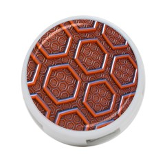 3d Abstract Patterns Hexagons Honeycomb 4 Port Usb Hub (one Side)