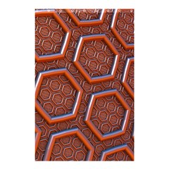 3d Abstract Patterns Hexagons Honeycomb Shower Curtain 48  X 72  (small)