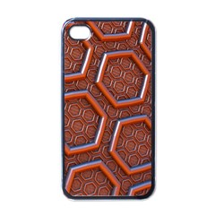 3d Abstract Patterns Hexagons Honeycomb Apple Iphone 4 Case (black)