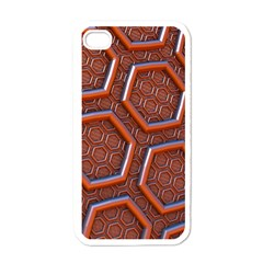 3d Abstract Patterns Hexagons Honeycomb Apple Iphone 4 Case (white)