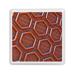 3d Abstract Patterns Hexagons Honeycomb Memory Card Reader (square)