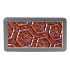 3d Abstract Patterns Hexagons Honeycomb Memory Card Reader (mini)